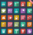 Food icons- flat design vector image