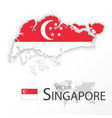 singapore map and flag vector image