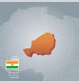 niger information map vector image