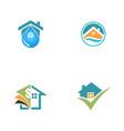 home properties sold logos vector image