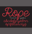 rope alphabet font vector image