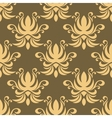 Seamless yellow curly flowers pattern vector image