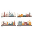 usa france uae and africa architectural vector image
