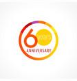 60 anniversary circle logo vector image