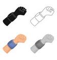 arm with bandagebasketball single icon in cartoon vector image vector image