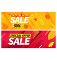 autumn sale special offer set season discount vector image vector image