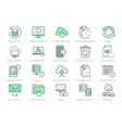 backup line icons vector image vector image