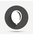 Balloon sign icon Birthday air balloon vector image vector image