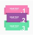 Banner Strip Option Number vector image vector image