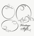 beautiful collection of oval frames vector image vector image