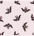 black bat halloween seamless pattern vector image
