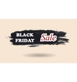 Black Friday watercolor banner design vector image vector image