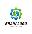 brain with gear creative mind with mechanic vector image vector image