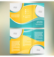 brochure geometric abstract element color vector image vector image