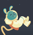 Bunny Relaxing in Space vector image vector image