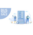 bus ticket sale concept for web banner vector image
