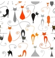 Cats seamless pattern for your design vector image vector image