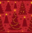 christmas seamless background 4 vector image