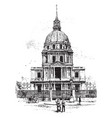 church of the hotel des invalides vintage vector image vector image