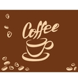 Coffee cup and bean vector image vector image