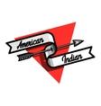 Color vintage american indian emblem vector image vector image