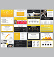 creative stock yellow and black elements vector image