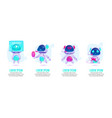 cute chat bot robot assistant for messenger vector image