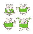 cute little bear cartoon doodle vector image vector image