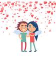 dating girlfriend boyfriend smiling lovers vector image vector image