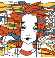 decorative portrait of a woman creative artwork vector image