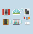 different interior windows of various forms vector image vector image