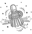 doodle pop shuttlecock vector image vector image