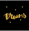 dreams lettering hand drawn vector image vector image