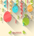 Easter Background with Colorful Eggs and vector image