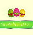 easter background with eggs and copy space vector image vector image