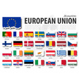european union flag eu and membership torn vector image vector image