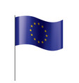 european union flag vector image vector image