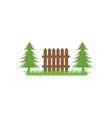fence icon logo design vector image vector image