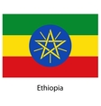 Flag of the country ethiopia vector image vector image