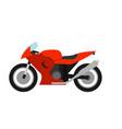 flat style racing motorcycle vector image vector image