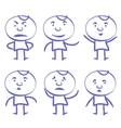 funny men set sketch cartoon vector image vector image