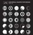 geometric shapes logo vector image vector image