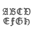 ghotic letters vector image vector image