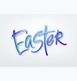 golden metallic shiny typography happy easter 3d vector image vector image