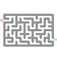 gray labyrinth vector image vector image