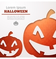 halloween abstract pumpkin vector image vector image