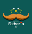 happy father day brown mustache design vector image vector image
