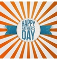 Happy Fathers Day greeting Tag with blue Text vector image vector image
