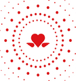 heart dot vector image