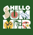 hello summer lettering image vector image vector image